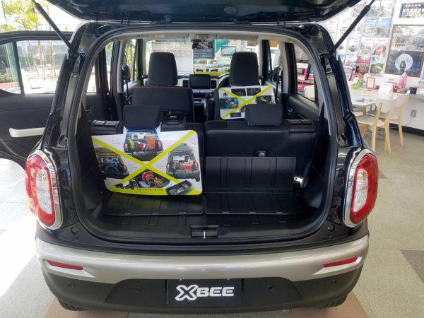 XBEEの後部座席使用時の荷室