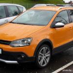 VW「クロスポロ」オレンジ色の全体画像